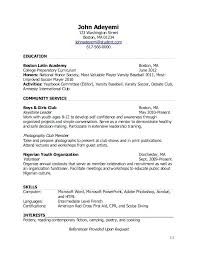 How To Write A Resume For Students Great Tips To Compose High School