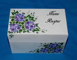 Decorative Recipe Box 100 best Hand Painted Recipe Boxes images on Pinterest Recipe 68