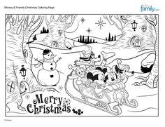 Small Picture Mickey Friends Christmas Coloring Page Christmas colors Craft