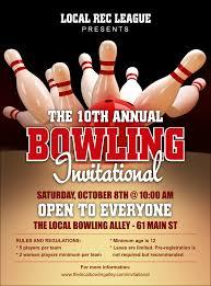 league flyer bowling league flyer
