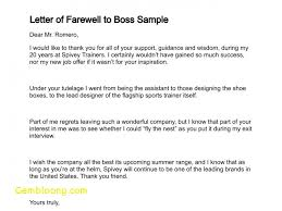 Leaving Letter To Manager Inspirational Farewell Letter Boss Easy