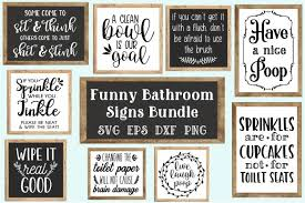 All wash bathroom wall design cutting files silhouette vinyl cricut funny signs rules vector decal from etsy studio your hands quote digital file this decor. Funny Bathroom Quotes Bundle Svg Graphic By Craft Pixel Perfect Creative Fabrica Bathroom Quotes Funny Bathroom Humor Bathroom Signs