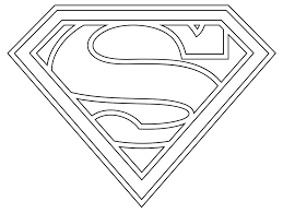 Free printable christmas coloring pages. Printable Superman Logo Coloring Home