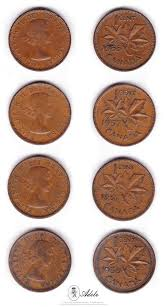 Items Similar To Set Of 22 1953 To 1964 Canadian Pennies