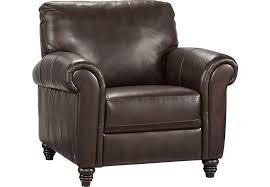 rooms to go cindy crawford home lusso coffee bean leather chair