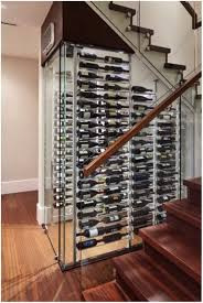 frameless glass enclosure contemporary wine cellar
