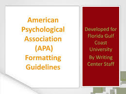 Ppt American Psychological Association Apa Formatting Guidelines