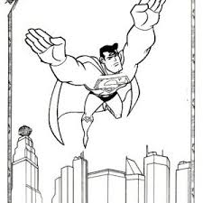 Superman coloring pages and pictures of man of steel. Strong Superman Flying Coloring Page Mitraland