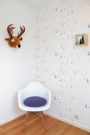 Behang Wild Forest Blue In 2019 Blue Wallpaper Babykamer
