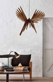 modern wooden chandelier geometry