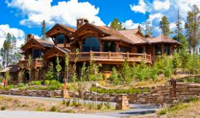 Custom Home Design Ideas large wood and stone home in summit county colorado