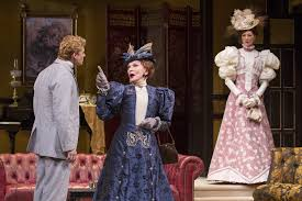 the importance of being earnest at shakespeare theatre company by  anthony roach algernon sian phillips lady bracknell and vanessa morosco