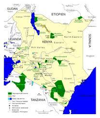 Kenya lind kaart - Kaart, Kenya lind (Ida-Aafrika - Aafrika)