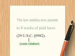 Easy Ways To Cite Laws In Apa 6 Steps With Pictures Wikihow