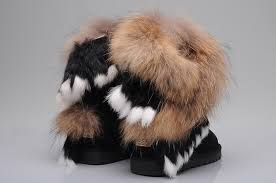 ... UGG 8288 Fox Fur Short Boots For Women in Chocolate ...
