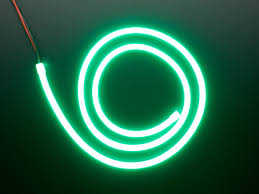 flexible silicone neon like led strip 1 meter green