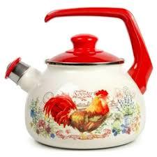"""«<b>Эмалированный чайник</b> со свистком <b>Metrot</b> """"<b>Золотой</b> Петушок ..."""