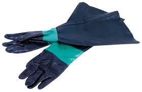 gloves blasting for red white cammac blast cabinet 160mm new 21 70
