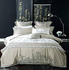blue king duvet cotton queen king size embroidery grey blue bedding set luxury royal bed blue