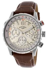 rotary watch gs00120 31 men s chronograph beige dial brown genuine rotary watch gs00120 31 men s chronograph beige dial brown genuine leather