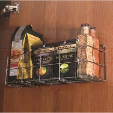 Kitchen Cupboard Storage Dynasty Chrome Single Tier Kitchen Cupboard Door Storage Rack