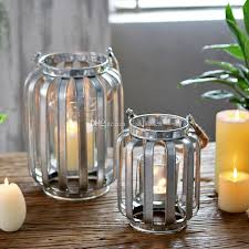 galvanized tin banded candle lantern loft metal hurricane candle lamp with hemp rope handle for bar tabeltop decoration hanging candle holders whole