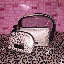 vs cosmetic bag travel makeup case 3 pic set