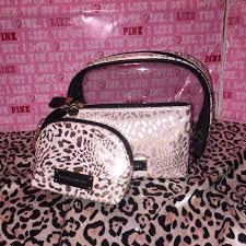 vs cosmetic bag travel makeup case 3 pic set