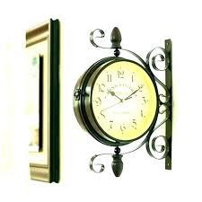 antique wall clocks retro metal double sided clock c mirror antiques uk mid century modern