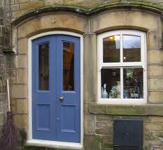 painted double front door. Double Door And Sash Window Painted Front