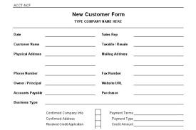New Customer Account Form New Customer Account Form Under Fontanacountryinn Com