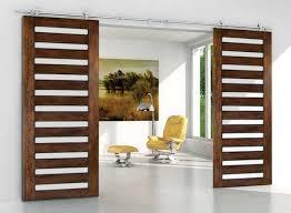Modern Double Sliding BARN DOOR HARDWARE for Double Sliding Wood Door modern
