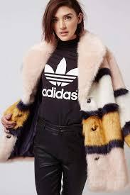 top faux fur coat