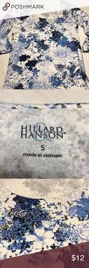 Hilliard Hanson, blue floral top, Small in 2020 | Blue floral top, Floral  tops, Floral print tops