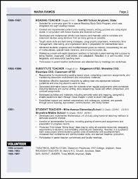 Gallery Of Example Resume For Teacher