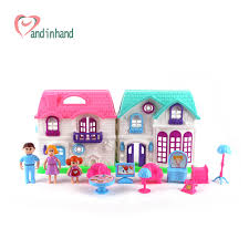 cheap doll houses with furniture. plastic dollhouse furniture set toys chair table happy family house pretend play juguetes classic for cheap doll houses with e