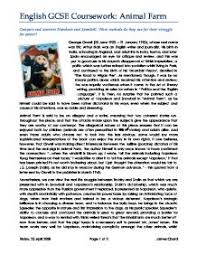 animal farm compare and contrast napoleon and snowball what   george orwell · animal farm page 1