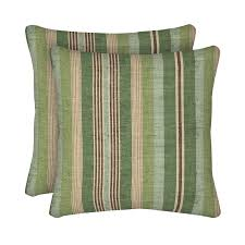 allen roth 2 pack green striped square throw pillows