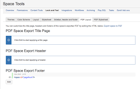 Confluence - PDF customized export, difference between PDF Layout ...