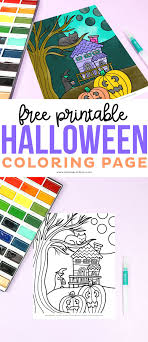 Click on halloween coloring pictures below for the printable halloween coloring page. Free Halloween Coloring Page Printable Crush