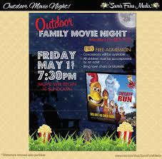 Free Movie Night Flyer Templates Outdoor Movie Night Flyer Movie On The Green Poster