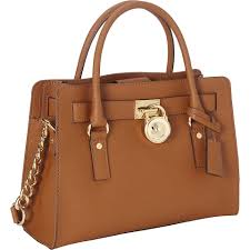 leather mk satchel in luggage brown gold matching 12345678