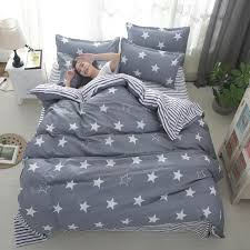 gray stars bedding sets kids boys twin queen king size stripe pillowcase duvet comforter bed cover bed sheet geometric linen full size duvet cover bedding