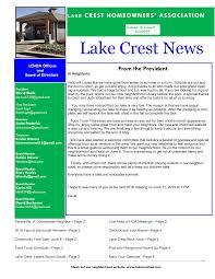 Lake Crest News