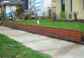 timber retaining wall landscaping timbers landscape ideas ties cost per metre