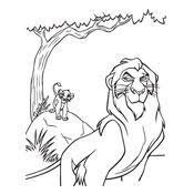 Kleurplaat Lion King Disney 664