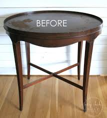 layered chalk paint makeover the