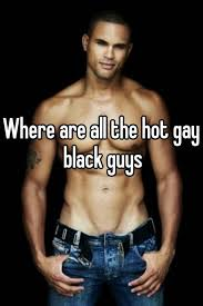 Hot gay black guy