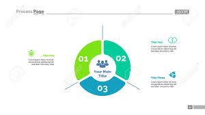Three Options Strategy Process Chart Template Design Illustration