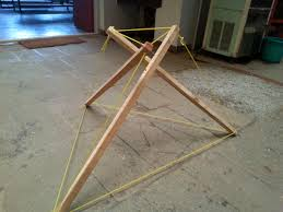 tensegrity furniture. use of simple cheap materials to create a diy method for building tensegrity furniture t
